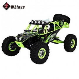 image of WLTOYS 10428 2.4G 1:10 SCALE REMOTE CONTROL ELECTRIC WILD TRACK WARRIOR CAR VEHICLE TOY (GREEN) EU PLUG