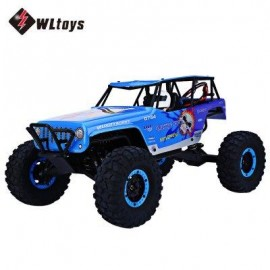 image of WLTOYS 10428A 2.4G 1:10 SCALE REMOTE CONTROL ELECTRIC WILD TRACK WARRIOR CAR TOY (BLUE) EU PLUG