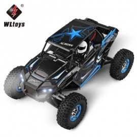 image of WLTOYS 10428 - B RC CLIMBING TRUCK 1:10 4WD 30KM/H - RTR (BLUE AND BLACK) -