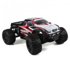 image of ZD RACING 10427 - S 1:10 BIG FOOT RC TRUCK RTR 2.4GHZ 4WD / SPLASHPROOF 45A ESC / 3.5KG HIGH-TORQUE SERVO (BLACK AND RED) BRUSHED VERSION
