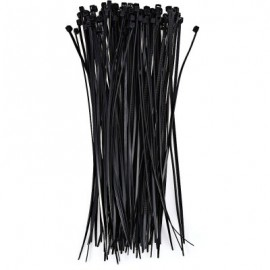 image of 100PCS 3 X 200MM NYLON CABLE TIE ZIP FASTEN WIRE (BLACK)
