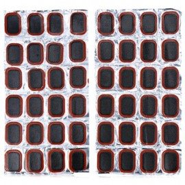 image of 48PCS 25MM RUBBER REPAIR TIRE PIECE SUIT FOR BICYCLE MTB MOTORCYCLE INNER TUBE (BLACK)