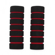 image of ONE PAIR SOFT SPONGE FOAM HANDLE HANDLEBAR GRIP COVER FOR ROAD MOUNTAIN BIKE (RED)