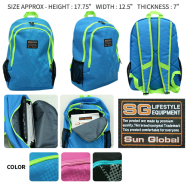 image of SGB02 SUN GLOBAL LAPTOP / SCHOOL / TRAVEL / CLIMBING BACKPACKS