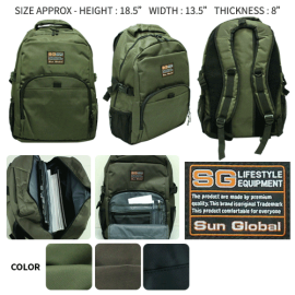image of SGB03 SUN GLOBAL LAPTOP / SCHOOL / TRAVEL / CLIMBING BACKPACKS