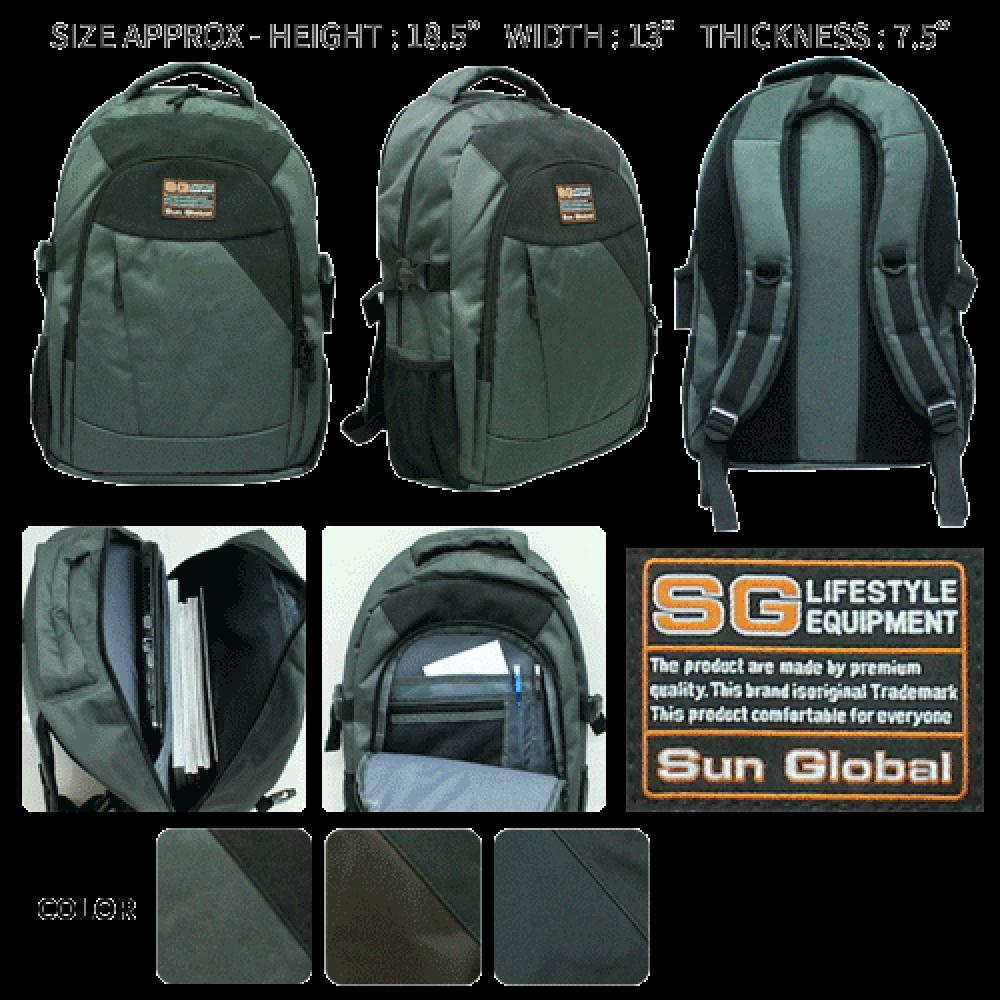 SGB04 SUN GLOBAL LAPTOP / SCHOOL / TRAVEL / CLIMBING BACKPACKS