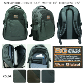 image of SGB04 SUN GLOBAL LAPTOP / SCHOOL / TRAVEL / CLIMBING BACKPACKS