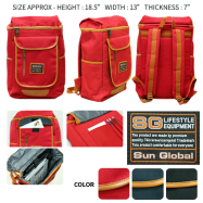image of SGB05 SUN GLOBAL LAPTOP / SCHOOL / TRAVEL / CLIMBING BACKPACKS