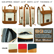 image of SGB06 SUN GLOBAL LAPTOP / SCHOOL / TRAVEL / CLIMBING BACKPACKS