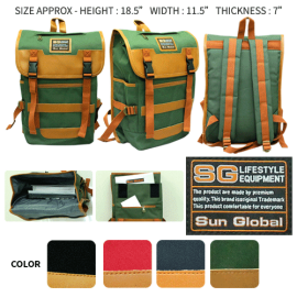 image of SGB07 SUN GLOBAL LAPTOP / SCHOOL / TRAVEL / CLIMBING BACKPACKS