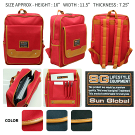 image of SGB08 SUN GLOBAL LAPTOP / SCHOOL / TRAVEL / CLIMBING BACKPACKS