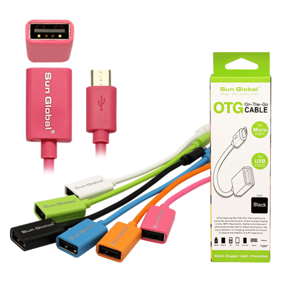 SGC18 SUN GLOBAL OTG CABLE TO MICRO PORT