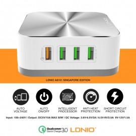 image of LDNIO Qualcomm Quick Charge QC 3.0 8 USB Port Adapter