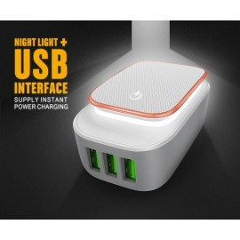 image of LDNIO A3305 3-Port USB Travel Charger Adapter