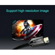 image of Joyroom Gold Plated 2M Male to Male HDMI 2.0 Cable Updated Version