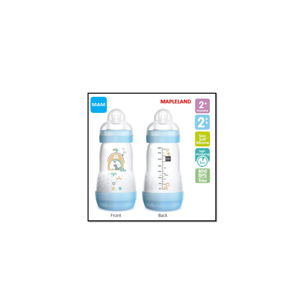 MAM BOTTLE 260ML ANTI COLIC TWIN PACK