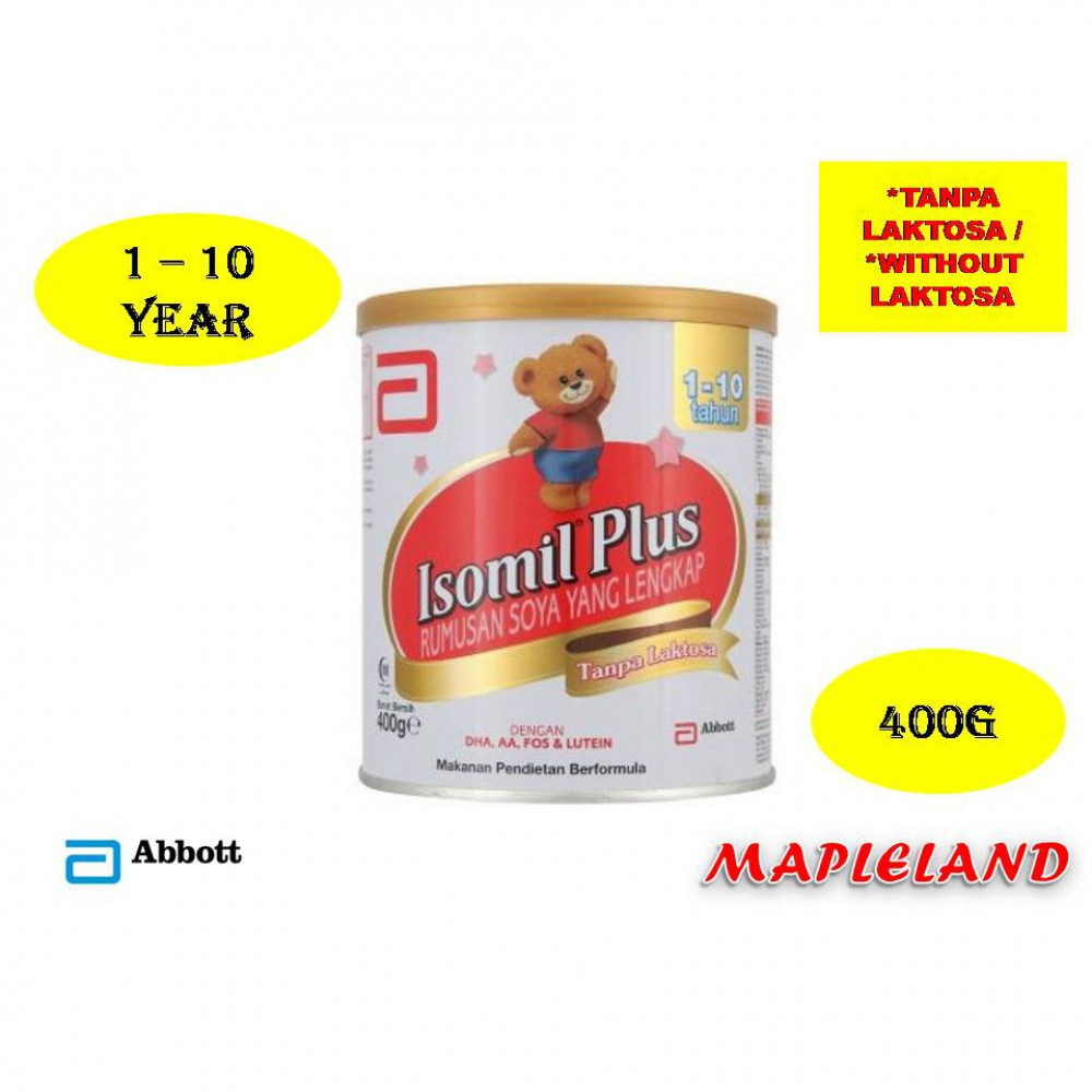 ISOMIL PLUS (1-10 TAHUN) 400G TANPA LAKTOSA