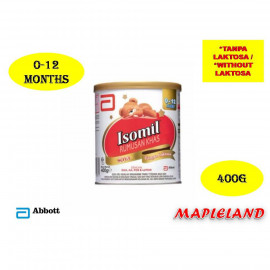 image of ISOMIL (0-12 MONTHS) 400G TANPA LAKTOSA