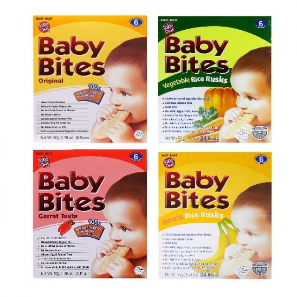 Baby Bites All flavour 50g(24 RUSKS)