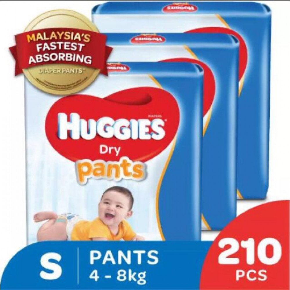 HUGGIES DRY PANTS SJP 3 PACKS M60+4/L50+2/XL42/XXL32