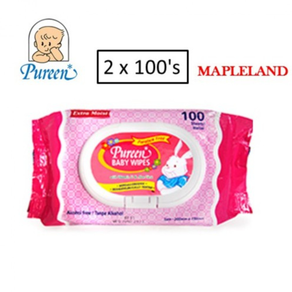 Pureen wipes tissue 2 x 100's(RED)