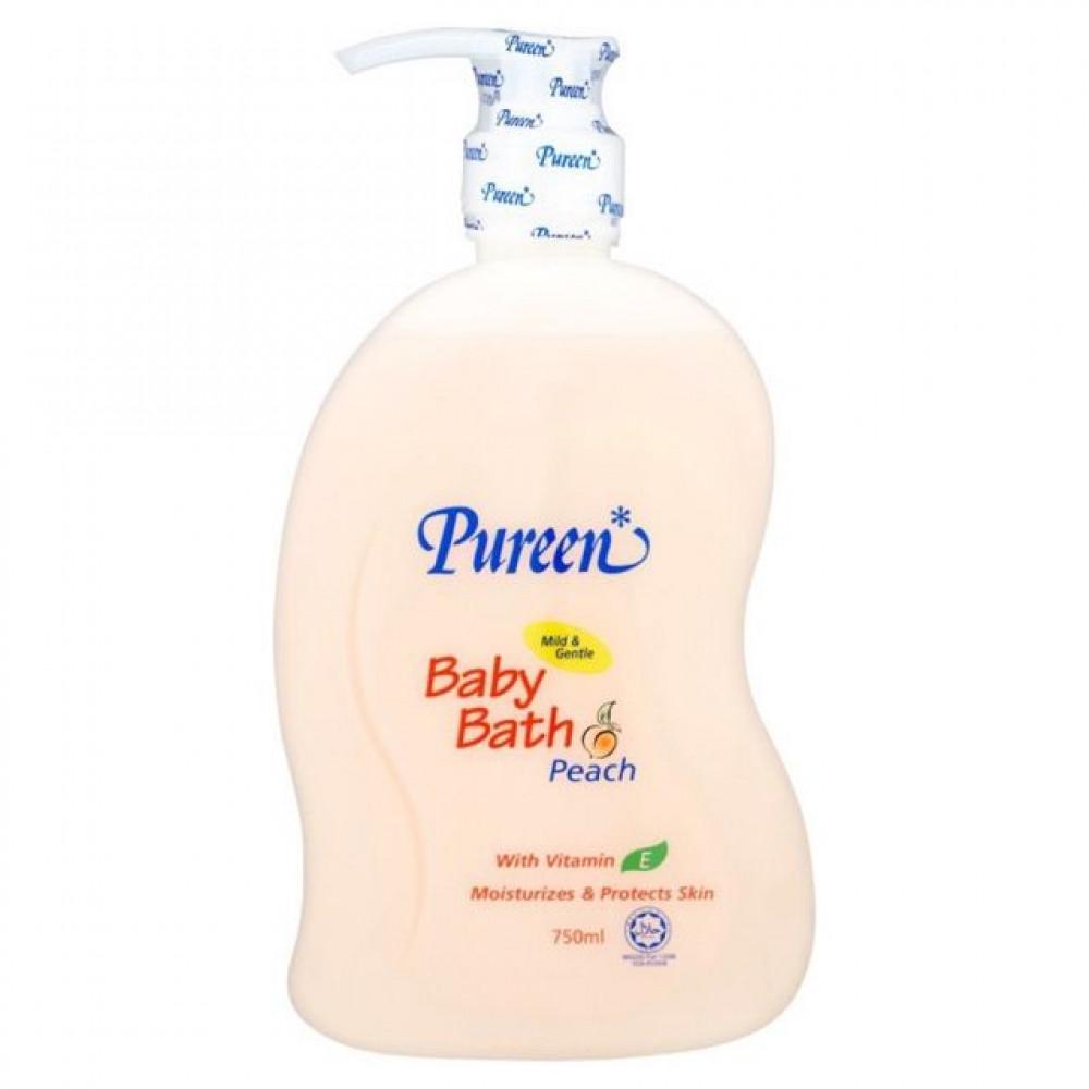 Pureen Baby Bath - Peach (750ml)