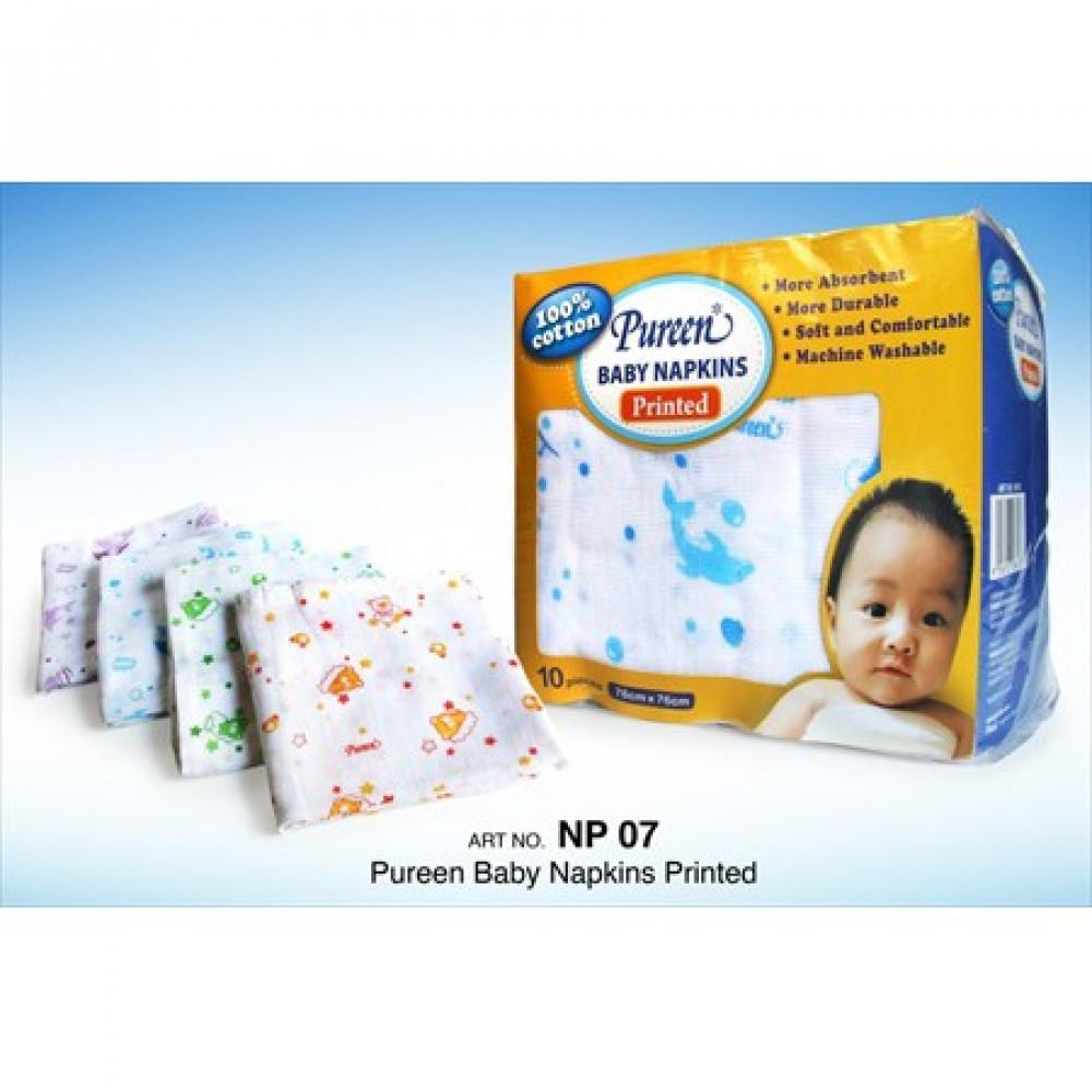 Pureen Baby Napkins Printed 10'S(76CMx76CM)