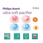 Ultra soft and flexible, 0-6m,Orthodontic & BPA-Free, 2-pack