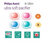 Ultra soft and flexible, 6-18m, Orthodontic & BPA-Free, 2-pack