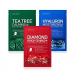 SOME BY MI Diamond Brightening Tea Tree Calming Glow Luminous Ampoule Hyaluron Moisturizing Mask 1pcs