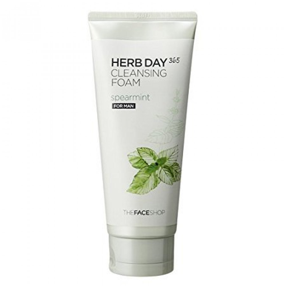 The Face Shop Herb Day 365 Cleansing Foam 170ml # Spearmint For Men