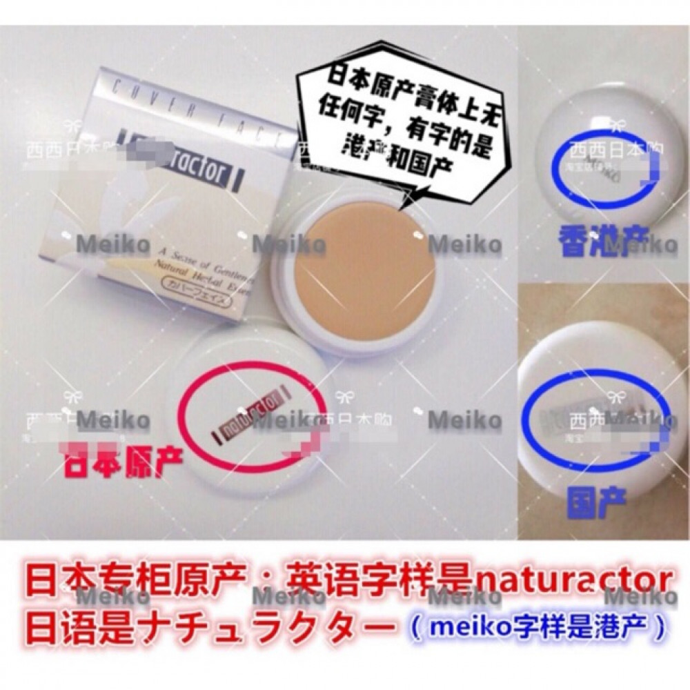Meiko Cosmetics Naturactor Cover Face Foundation