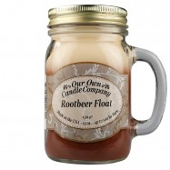 image of NATURAL LOOKS - Rootbeer Float Mason (SCENTED CANDLE)