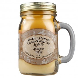 image of NATURAL LOOKS - Apple Pie Cinnamon Vanilla Mason (3 layers) (SCENTED CANDLE)