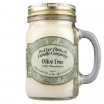 NATURAL LOOKS - Olive Tree Odour Eliminator Mason (SCENTED CANDLE)