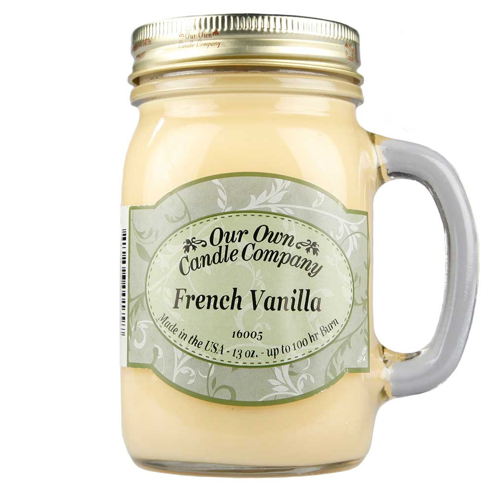 NATURAL LOOKS - French Vanilla Mason (SCENTED CANDLE)