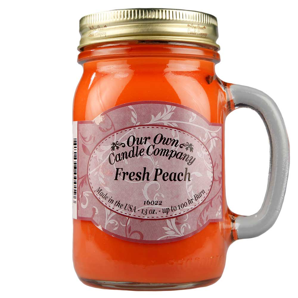NATURAL LOOKS - Fresh Peach Mason (SCENTED CANDLE)
