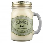 NATURAL LOOKS - Basil Odour Eliminator Mason (SCENTED CANDLE)