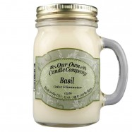 image of NATURAL LOOKS - Basil Odour Eliminator Mason (SCENTED CANDLE)