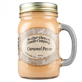 image of NATURAL LOOKS - Caramel Pecan Mason (SCENTED CANDLE)