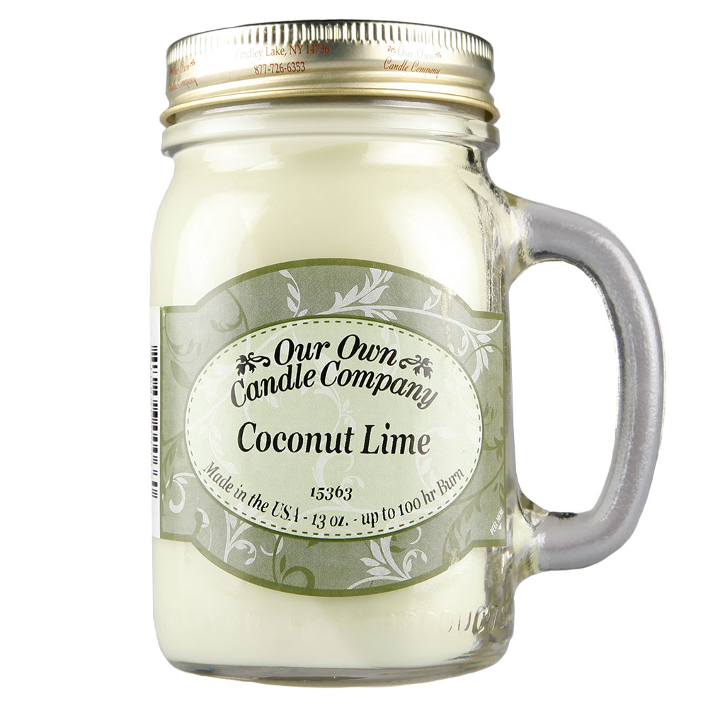 NATURAL LOOKS - Coconut Lime Mason (SCENTED CANDLE)