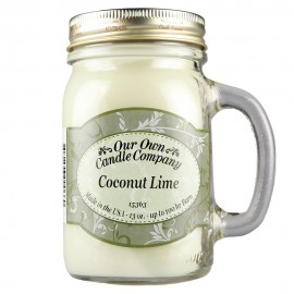 image of NATURAL LOOKS - Coconut Lime Mason (SCENTED CANDLE)