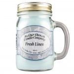 NATURAL LOOKS - Fresh Linen Mason (SCENTED CANDLE)