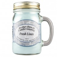 image of NATURAL LOOKS - Fresh Linen Mason (SCENTED CANDLE)