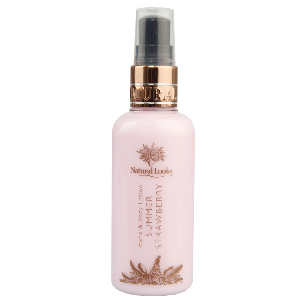 NATURAL LOOKS - STRAWBERRY HAND & BODY LOTION 100ML
