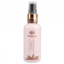 image of NATURAL LOOKS - STRAWBERRY HAND & BODY LOTION 100ML