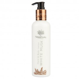 image of NATURAL LOOKS - WHITE MUSK HAND & BODY LOTION 250ML