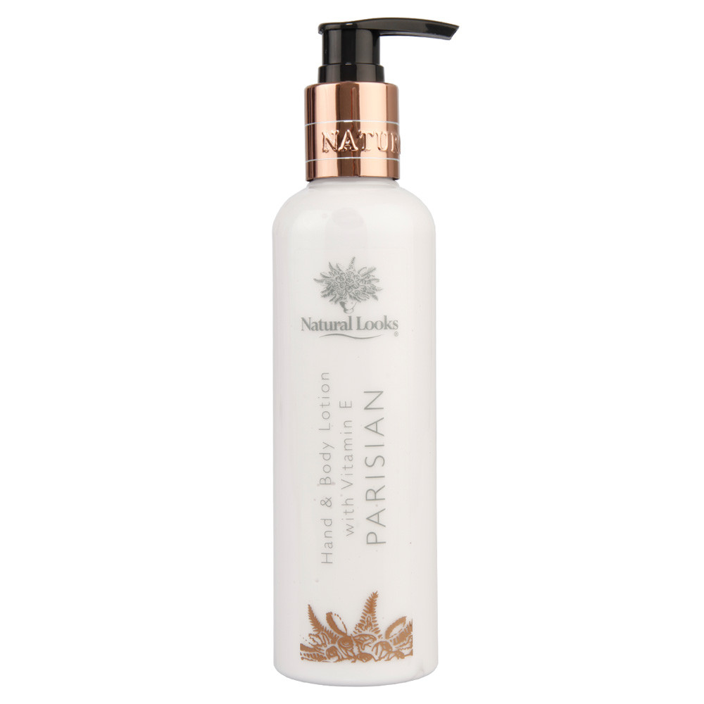 NATURAL LOOKS - PARISIAN HAND & BODY LOTION WITH VITAMIN E 250ML
