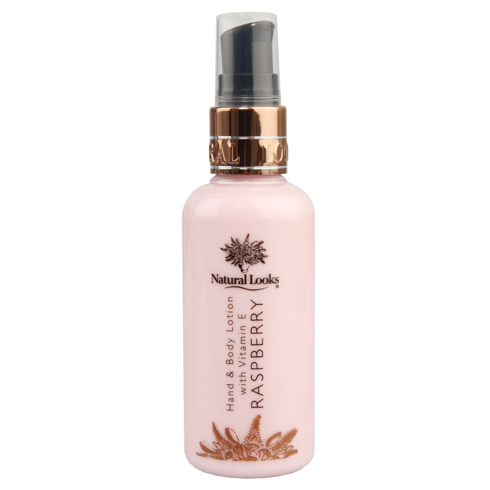 NATURAL LOOKS - RASPBERRY HAND & BODY LOTION WITH VITAMIN E 100ML