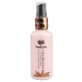 image of NATURAL LOOKS - RASPBERRY HAND & BODY LOTION WITH VITAMIN E 100ML